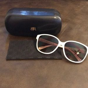 Banana Republic white sunglasses